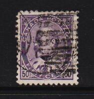 Canada - #95 Edw. VII 50c. value used, cat. $ 175.00