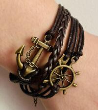 Infinity Bracelet Handmade Palm,anchor,courage charm