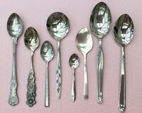 VINTAGE SPOONS CUTLERY BUNDLE x8 STAINLESS STEEL - DECORATIVE RETRO KINGS BUTLER