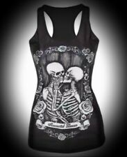 New Black Gothic 'Immortal Lovers' Skeleton Summer Vest Tank Top size 4XL 20 22