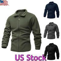 US Men's Fleece Jacket Sweater Zip Up Pullover Winter Warm Coat Outwear Jumper