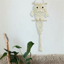 Owl Macrame Woven Handmade Tapestry Bohemian Style Wall Hanging Home Art Decor