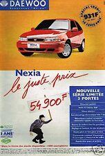 Publicité advertising 1997 Daewoo Nexia