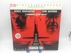 """Crimson Tide"" DTS Digital Surround Widescreen Laserdisc LD - Denzel Washington"