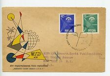 Poland 1957 cover to USA Poznan International Trade Fair (N055)