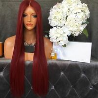 Burgundy 99J Lace Front Human Hair Wigs Virgin Red Full Lace Wig Malaysian Hair