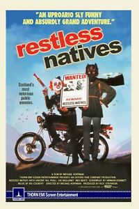 """RESTLESS NATIVES 1984 repro UK video poster huge 41x27"""" big country FREE P&P"""