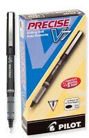 12 - PILOT Precise V7 Fine Needlepoint Rollerball Pen - NEW In Box - BLACK INK