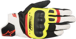 Alpinestars SP-5 Leather Gloves - Black/Yellow/White/Red - XXL 2XL