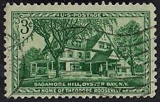 US 1953 Scott # 1023 Home of Theodore Roosevelt 3 Cent Used Postage STAMP