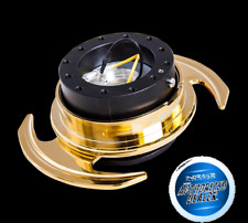 NRG Quick Release Gen 3.0 - Corps Noir-Gold ring avec poignées