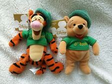 Disney Store Beanie Babies Irish Winnie The Pooh And Tigger Bnwt St Patricks