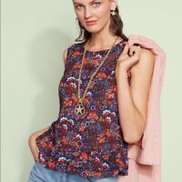 CAbi Women's Lindsey Floral Sleeveless Top Size Medium Multicolor Style 5391