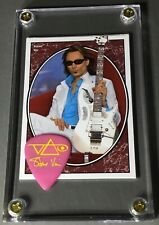 Look - Steve Vai trading card / yellow on pink Ibanez guitar pick display!