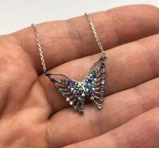 Turkish Jewelry Butterfly Motif 925K Sterling Silver Women's Necklace