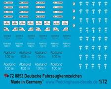 Peddinghaus-Decals 1//72 681 Taktische Zeichen Wehrmacht HQ Einheiten Satz 7