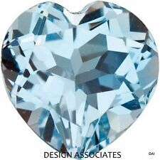 AQUAMARINE 5 MM HEART CUT OUTSTANDING BLUE COLOR ALL NATURAL