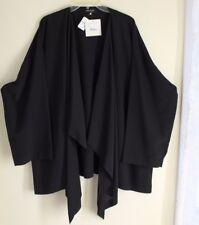 NWT Eskandar -Sz 2 Black Rich 100% Silk Draping Elegant Flowing Jacket