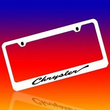 CHRYSLER *CHRYSLER* GENUINE ENGRAVED CHROME LICENSE PLATE FRAME TAG HOLDER 1