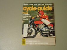 JUNE 1978 CYCLE GUIDE MAGAZINE,LAVERDA 500ZETA,YAMAHA YZ250E,DAYTONA,SUPERBIKES