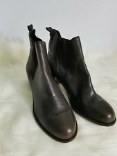 Sam Edelman Justin Boots Ankle Booties Brown Leather Size 11