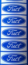 "5 X ""Fuct""stickers for wheels hubs alloys car/van/bumper/window/decal code 5098"