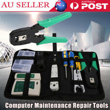 RJ45 Crimper Analyzer Network Cable Tool Kit LAN Down Wire Stripper Cat5 6 BAG