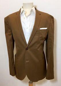 NEIL BARRETT Slim Fit Toffee Brown Cotton Patch Pocket Sports Jacket Blazer 44