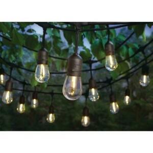 Hampton Bay 24-Light In/Outdoor 48 ft. String Light w/ S14 t LED Bulbs