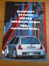 RENAULT CLIO V6 SPORT  Brochure jm