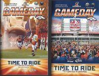 2013-14 NFL AFC DIVISIONAL & CHAMPIONSHIP DENVER BRONCOS FOOTBALL GAME PROGRAMS