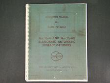 Blanchard Surface Grinder # 16-A & # 16-A2 Operator & Parts Manual *12