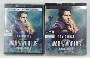 War of the Worlds (4K UHD + Blu-ray + Digital, 2020) Tom Cruise NEW w/ SLIPCOVER