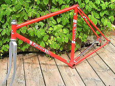 Rossin road race frame repainted 52 cms late 70s/ early 80s vintage s/pin pedals