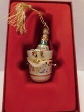 "Beautiful Lenox ""2001 Celebrate Box"" Champagne Bucket Christmas Tree Ornament"