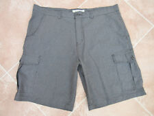 George - Mens Charcoal Mix Casual / Smart Combat Shorts - size 42W
