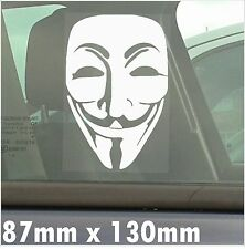 Guy Fawkes V For Vendetta-Self Adhesive Window Vinyl Sticker-Car,Van,Mask Sign