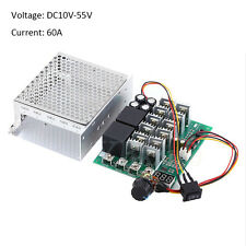 60A 12V 24V 36V 48V DC Motor Speed Controller Reversible Control Rotary Knob SG