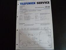 Original Service Manual  Telefunken Stereo Radio Recorder CR 20