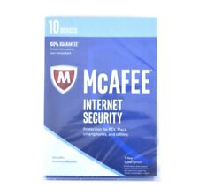 McAfee Internet Security 2017 10 Devices 1 Year - Product Key Card Brand New