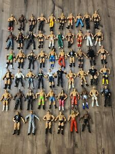 WWF WWE Wrestlers Jakks Pacific Action Figure Lot Of 56 1997 thru 2010! READ!