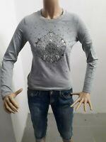Maglia MARELLA Donna T-shirt Woman Polo Femme Taglia Size M Cotone Grigio 8528