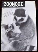 Walt Disney Studio Library 1964 Signed Card ZooNooz Magazine Sheldon Stark JHale