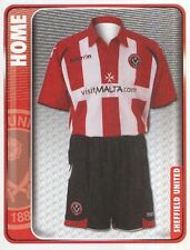 313 HOME KIT ENGLAND SHEFFIELD UNITED STICKER FL CHAMPIONSHIP 2010 PANINI