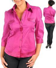 L85 JUNIOR -2XL/2XLarge- Pink/Magenta Cotton Blouse