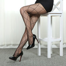 Hot&Sexy Womens Mesh Fishnet Stockings Black Sheer Pantyhose High Waist Tights