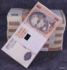 1987 Peru 100 Intis Banknote Bundle 100 Billetes $10,000 Pick P-133