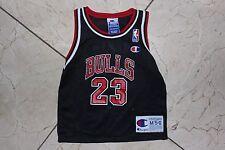 Vintage Chicago Bulls Jordan Champion Kids Baby Jersey #23 Black Red sz M 5-6