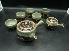 BRILLIANT ANTIQUE JAPANESE TEA SET JAPAN 7 PIECES HANDMADE HAND PAINTED