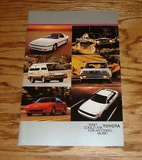 Original 1986 Toyota Car & Truck Full Line Sales Brochure 86 MR2 4Runner 2/86